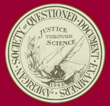 Logo of the American Society of Questioned Document Examiners