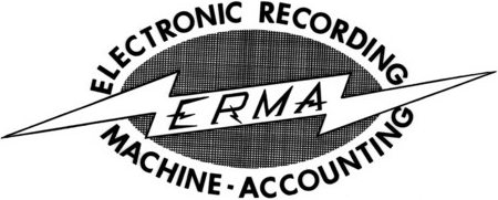 Logo of ERMA (Electronic Recording Machine - Accounting)