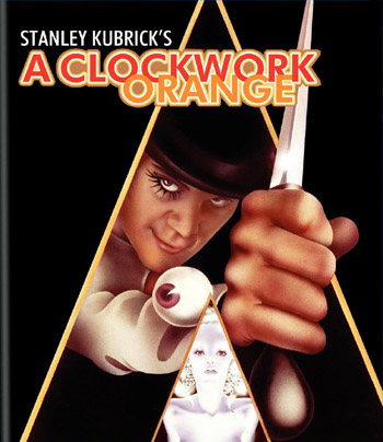 "DVD cover of the Stanley Kubrick movie ""A Clockwork Orange'"