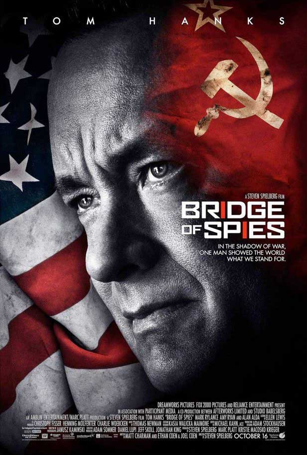 Movie poster of the Steven Spielberg movie 'Bridge of Spies'