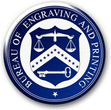Seal of the U.S. Bureau of Engraving and Printing (B.E.P.)