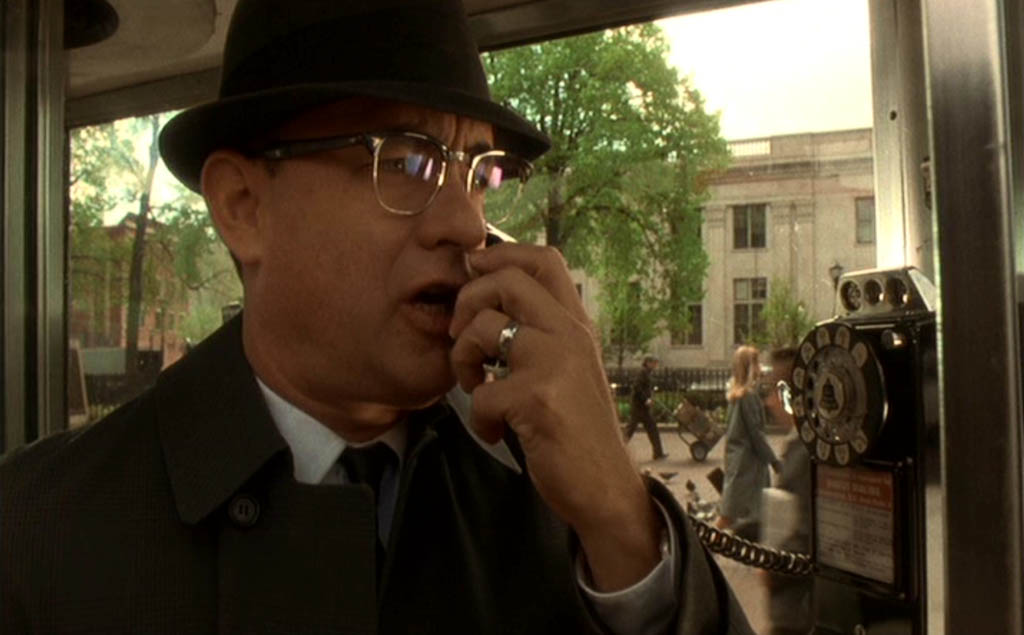 F.B.I. agent Carl Hanratty in telephone cell