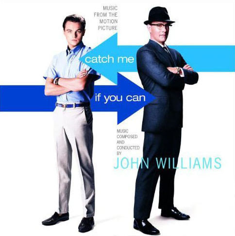 Booklet cover of the John Williams soundtrack for 'Catch Me If You Can'