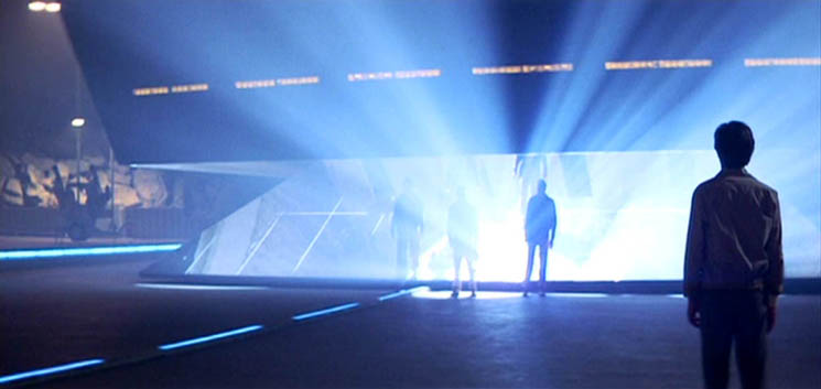Backlighting in the Steven Spielberg movie 'Close Encounters of the Third Kind' ('CE3K')