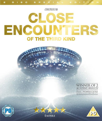 Blu-ray cover of the Steven Spielberg movie 'Close Encounters of the Third Kind' ('CE3K')