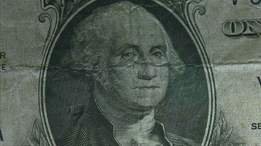 Bank note with George Washington engraving