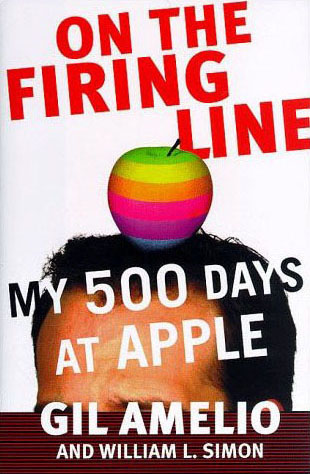 Cover of the Gil Amelio - William Simon book 'On the Firing Line - My 500 Days at Apple'