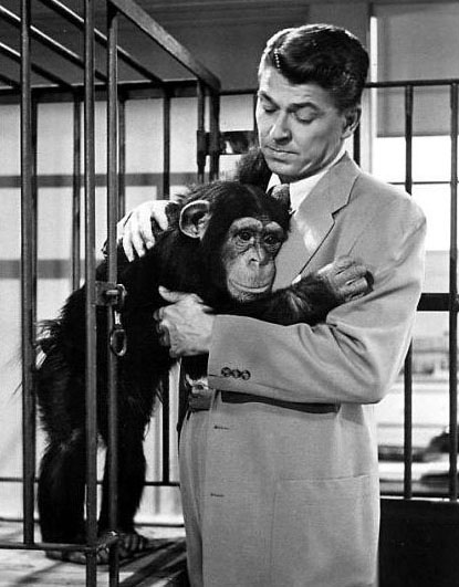 "Ronald Reagan in the movie ""Bedtime for Bonzo'"