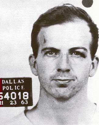 Mug shot of Lee Harvey Oswald, alleged assassin of President John F. Kennedy