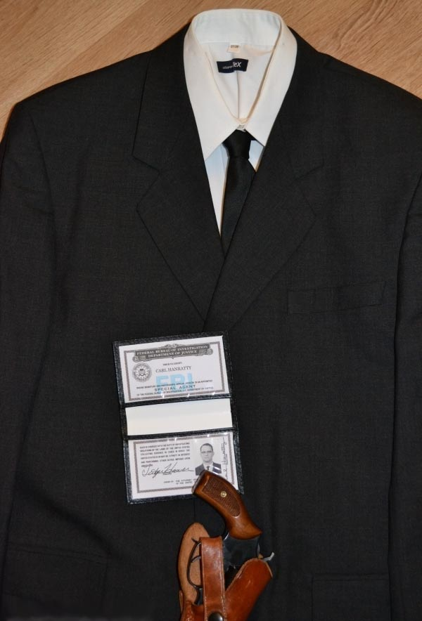 F.B.I. uniform of actor Tom Hanks for the Steven Spielberg movie 'Catch Me If You Can'