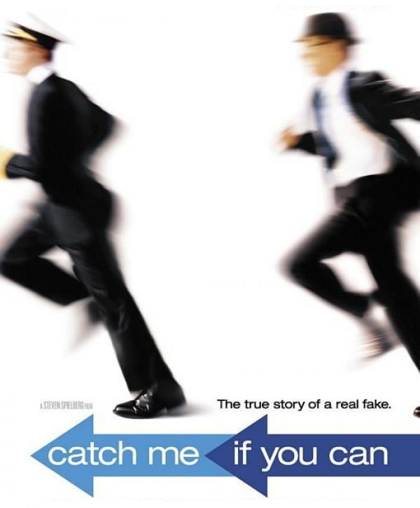 Movie poster of the Steven Spielberg film 'Catch Me If You Can'