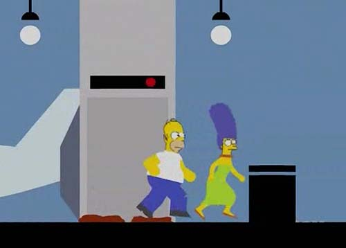 Animated sequence of 'Catch 'Em If You Can', episode of 'The Simpsons'