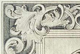 High-resolution border on a bank note