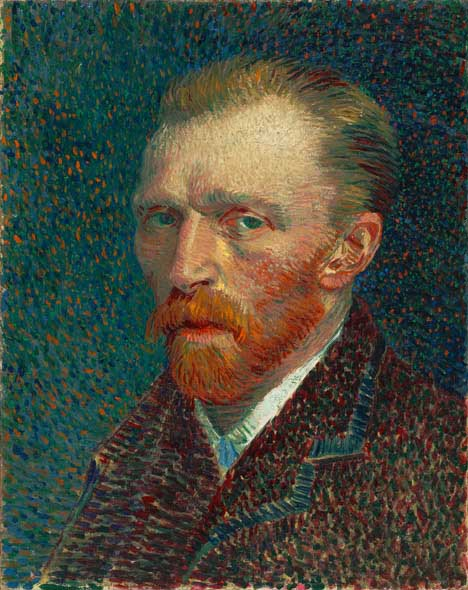 Impressionist painting (selfportrait by Vincent Van Gogh)