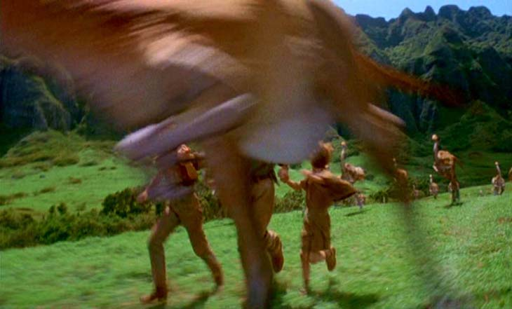 Motion blur in the special effects of the Steven Spielberg movie 'Jurassic Park'