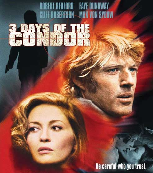 DVD cover of the Sydney Pollack movie 'Three Days of the Condor'