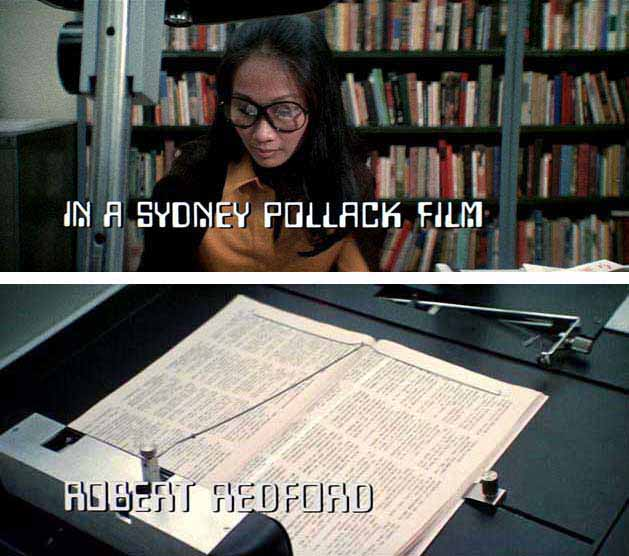 Data 70 font in the opening titles of the Sydney Pollack movie 'Three Days of the Condor'