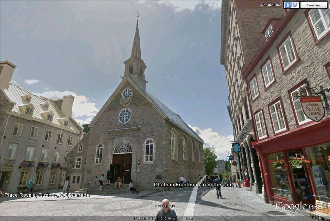Church Notre-Dame-des-Victoires on the Place Royale, Quebec City (Quebec, Canada)