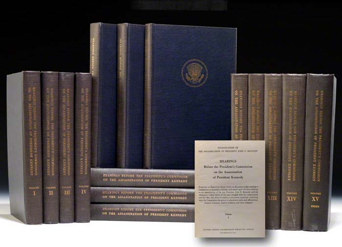 Book volumes of the Warren Commission Report