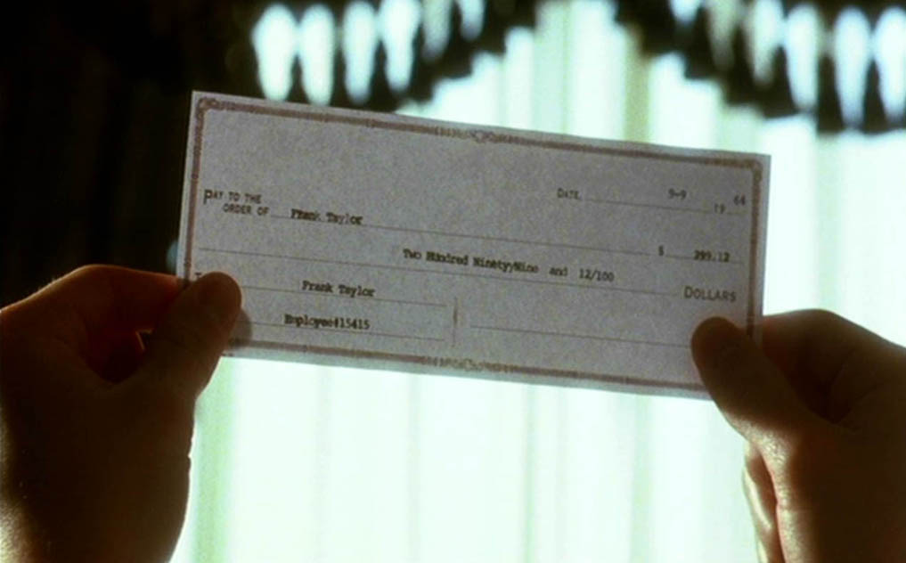 Pay check forged with a typewriter
