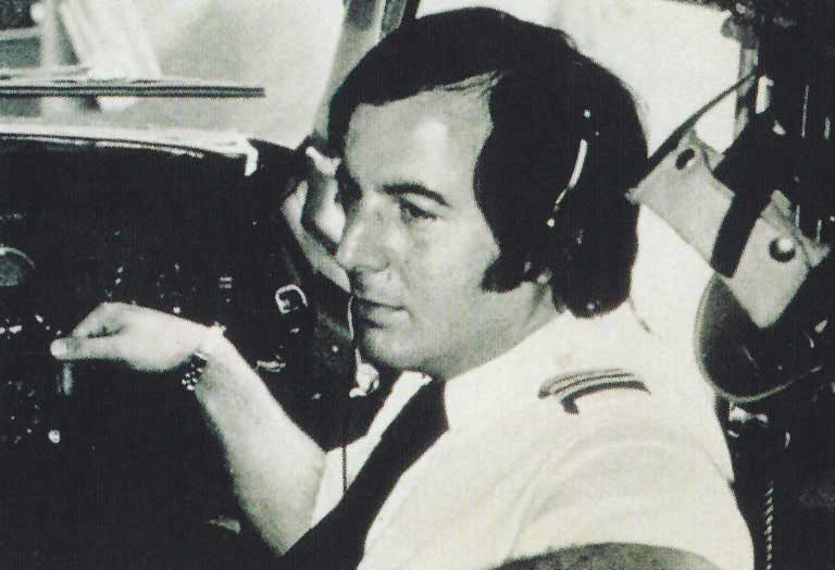 Frank Abagnale in cockpit as pilot