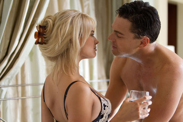 Margot Robbie and Leonardo DiCaprio in the Martin Scorsese movie 'The Wolf of Wall Street'