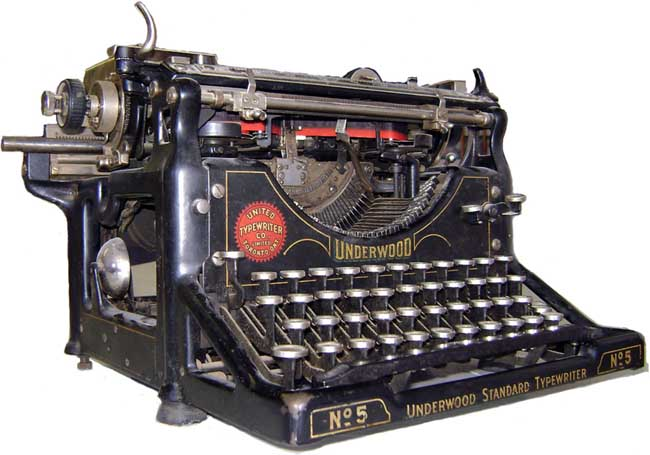 Underwood 5 typewriter