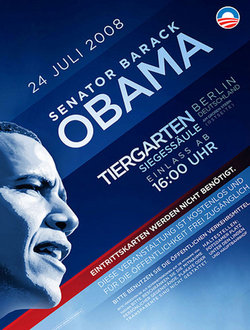 Barack Obama compaign poster (2008) with the Gill typeface