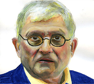 Self-portrait of painter David Hockney